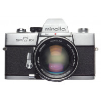 Minolta SRT101 SLR 35mm manual film camera MC Rokkor PF 1:1.4 f=58mm SUPER FAST coated lens